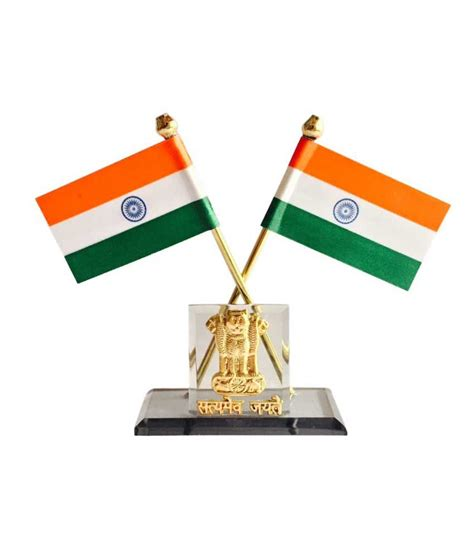 Home Decoratives Online by Bulb Centre Indian Flag With Satyamev Jayate Symbol For