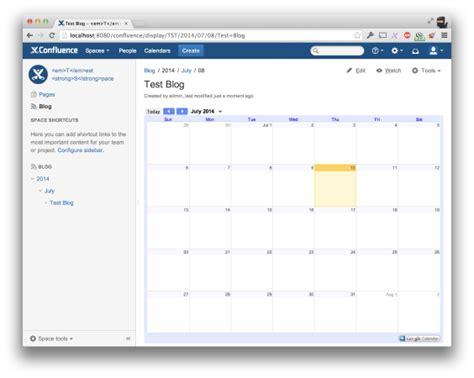 Confluence Calendar Calendar For Confluence Atlassian Marketplace