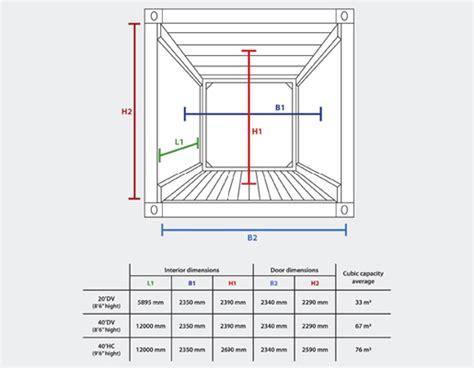 Dimensioni Interne Container 40 Piedi Misure Interne Container 40 Piedi 28 Images Misure