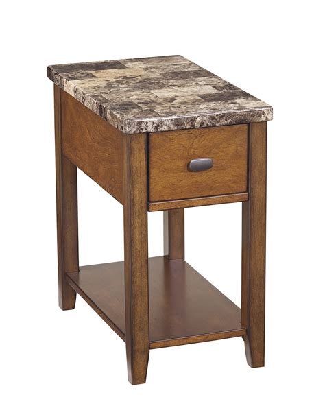 ashley marble sofa table ashley faux marble top half side tablet007 158 home