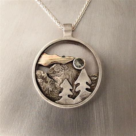 central oregon mountain pendant douglas jewelry design