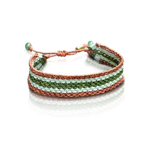 macrame jewelry striped macrame bracelet