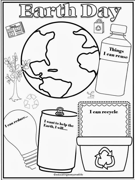 earth day coloring math pages 12 best images of recycling coloring worksheets