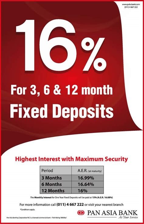 best deposit interest rates 16 highest interest rate for fixed deposits from pan asia