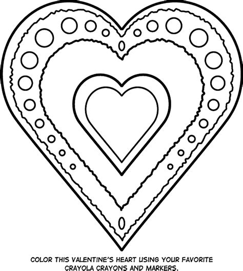 coloring pages for hearts s day coloring