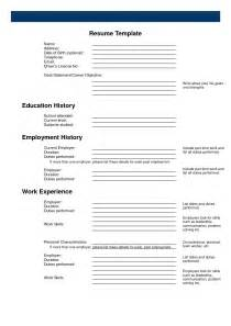 printable resume template free printable resume template mybissim
