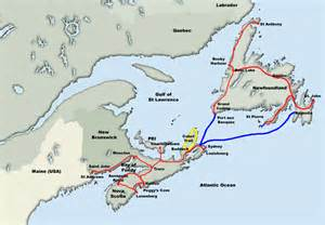 map of maritime canada maritime provinces canada images