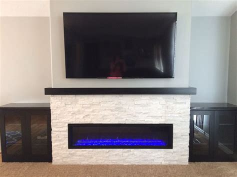 25 best ideas about linear fireplace on