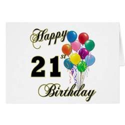 happy 21st birthday with balloons zazzle