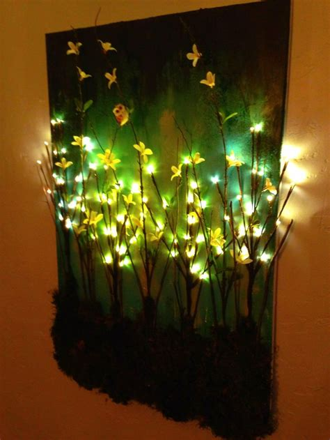 how to light paintings on the wall made this diy light up branches on painted canvas