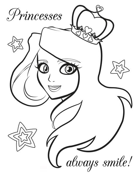 2014 free coloring pages of princess to print for girls