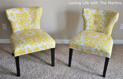 Reupholster Armless Chair by Loving With The Martins How To Reupholster A Chair
