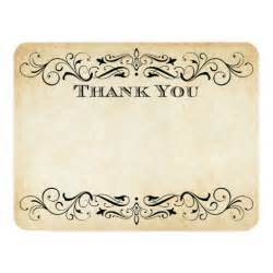 vintage wedding thank you cards flourish 4 25 quot x 5 5 quot invitation card zazzle