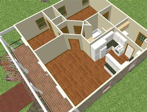 600 Sq Ft House Plans by Planos De Casas Sencillas De Un Piso Y 2 Dormitorios