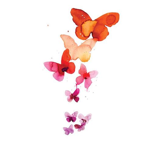tattly designy temporary tattoos coral butterflies by