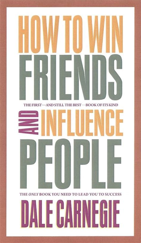 book cover design for how to win friends and influence