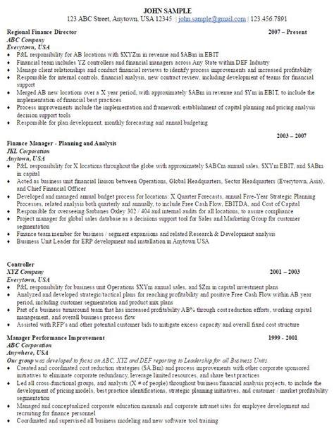 Finance Director Resume