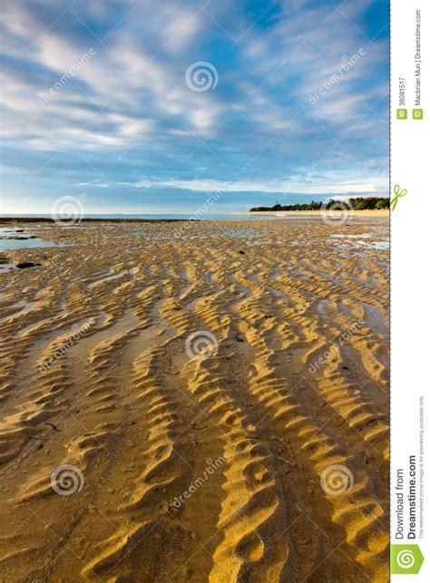 Nusa Pattern wavy sand pattern on nusa dua bali stock image