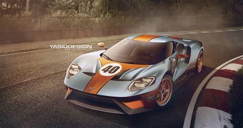 Top 10 Car Wallpaper 2017 Desktop Calendar by Render 2016 Ford Gt Gulf Edition Gtspirit