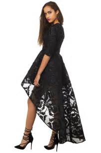 formal dress lace high low dress special occasion