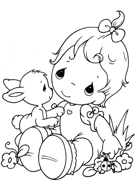 Precious Moments Coloring Pages Easter by Free Printable Precious Moments Easter Coloring Pages