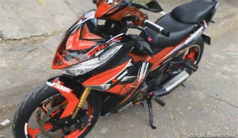 Pakai Batok King by Modifikasi Yamaha Jupiter Mx King 150 Pakai Headl Honda