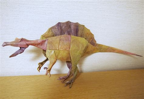 Origami Spinosaurus - some of the best origami i ve seen in 65 million years