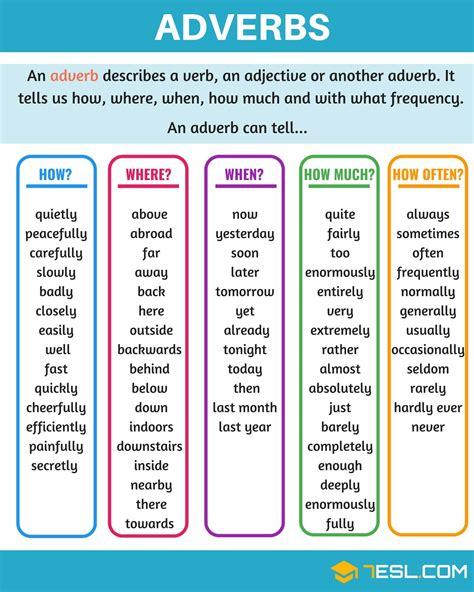 adverbs a complete grammar guide 7 e s l