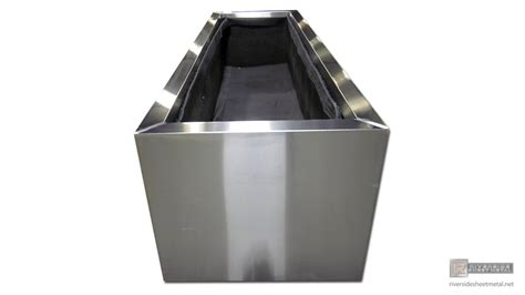 rectangular stainless steel planter 4 custom made to order
