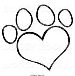 Larger Preview Doggy Clipart Of A Black And White Heart Shaped Dog  sketch template