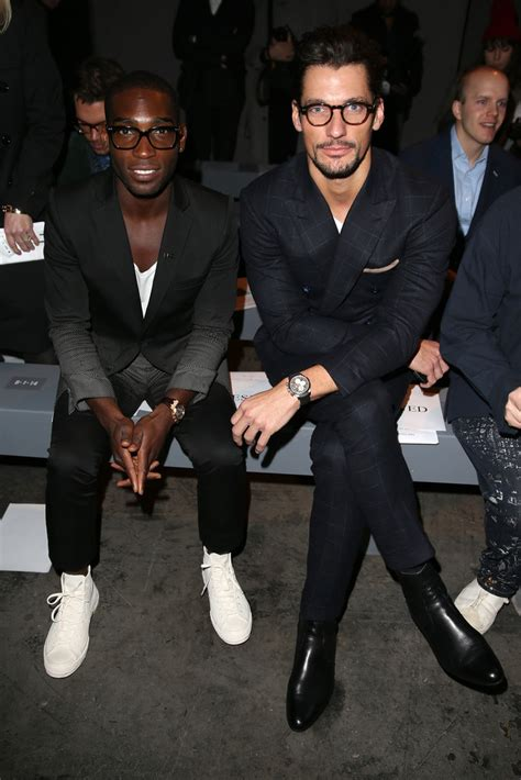 london collections men we pick the front row s best david gandy photos photos front row at the london