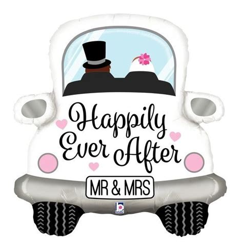 Just Married Auto Grafik by Folienballon Zur Hochzeit Quot Just Married Quot Auto