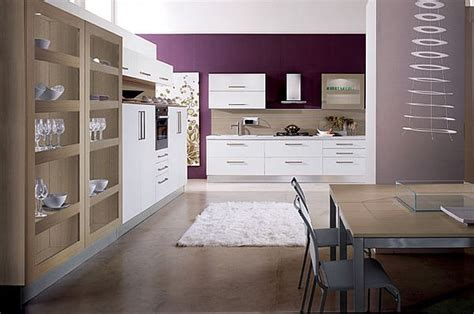 White Kitchen Purple Walls by Decorating With Purple Purple Rooms Designs