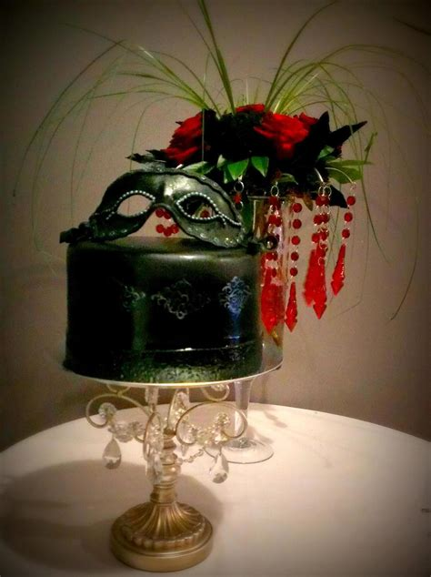 Bros Mini Oshibana Handmade Nbc 001 masquerade cake with a handmade fondant mask my the guests actually ate the mask as well
