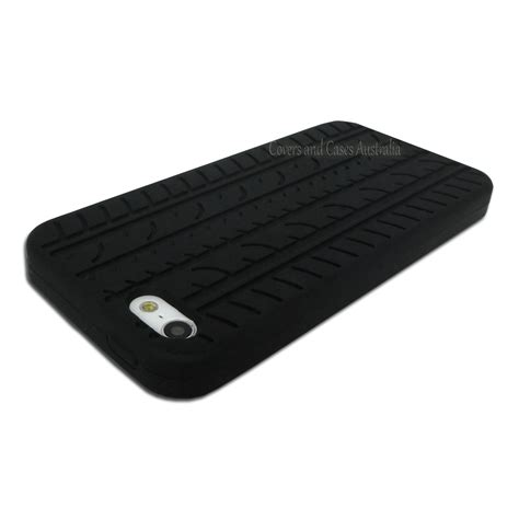 Rubber Cover Iphone 5sse black tyre tread silicone rubber soft for apple iphone 5 5s skin cover