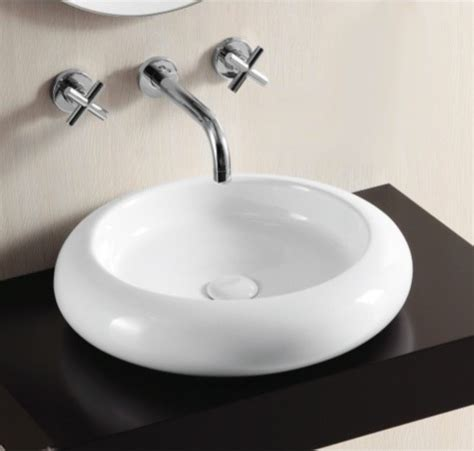 shallow bathroom sink shallow white ceramic vessel bathroom sink by