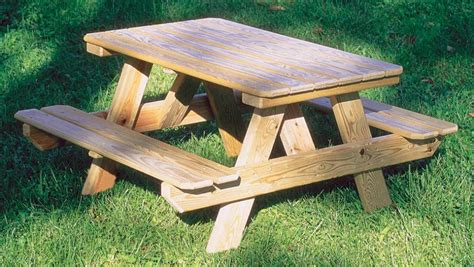 wooden bench tables wooden attached bench picnic tables kauffman marketplace