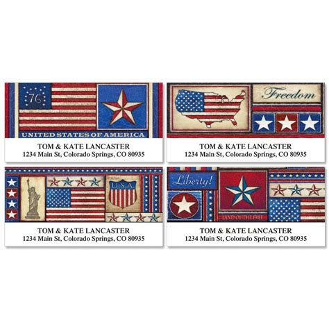 American Address Finder American Deluxe Address Labels Colorful Images