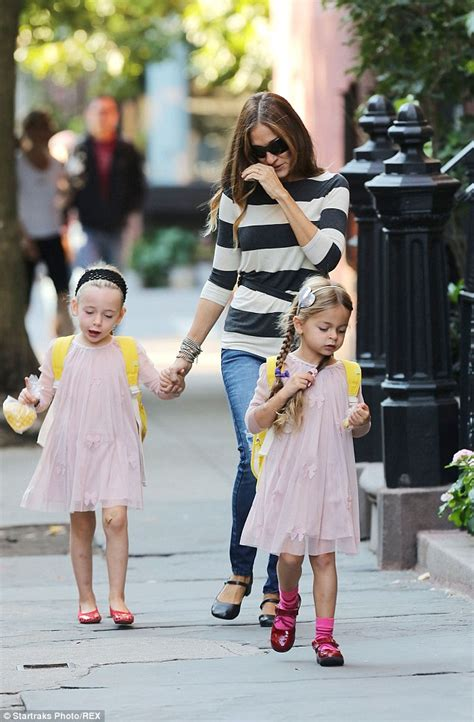 sarah jessica parker enjoys new york stroll with her twins