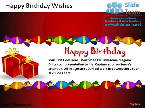 Happy Birthday Wishes Powerpoint Ppt Slides Happy Birthday Powerpoint Presentation