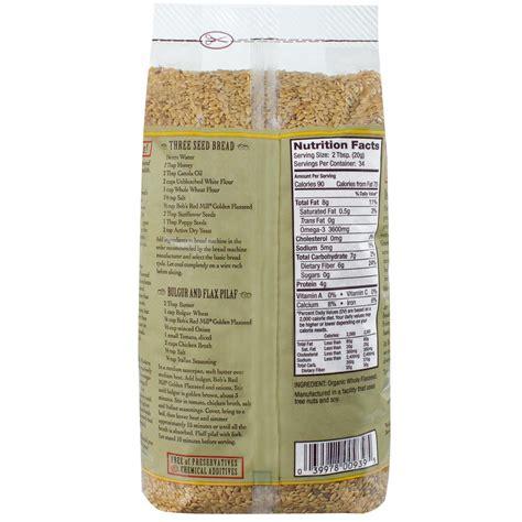 bobs red mill gluten  organic flaxseed golden oz