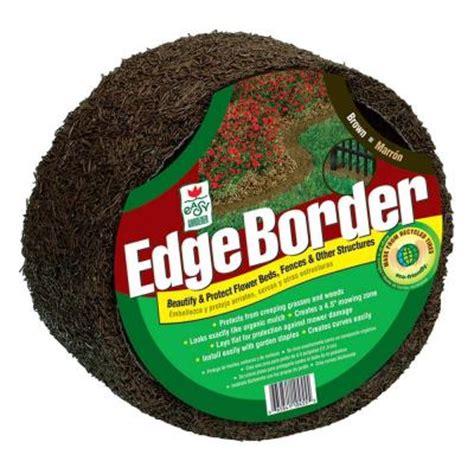 easy gardener 10 ft brown lawn edging border eb61045hd