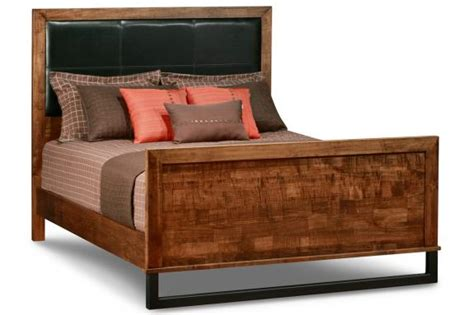 Leather Headboard And Footboard by Cumberland King Bed With Fabric Leather Headboard High