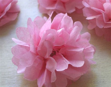 Handmade Tissue Paper Flowers - unique handmade paper flowers creation