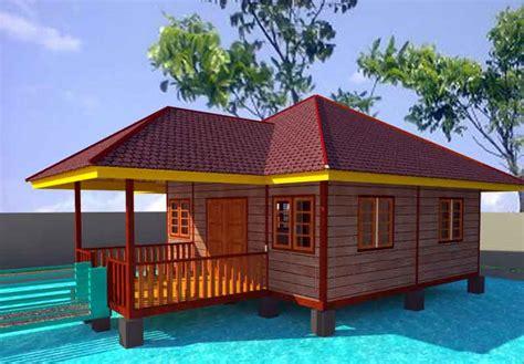 gambar desain rumah panggung kayu di atas kolam desainrumahsederhana
