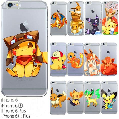 Casing Iphone 7 Charmander Go Custom poke mon pok 233 mon anime pikachu iphone 6s plus cases slim phone covers clear