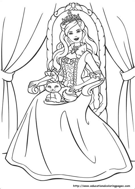 free coloring pages barbie princess barbie princess coloring pages free for kids