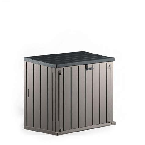 coffre de jardin gifi 2720 coffre de rangement fermeture par verrou 850 l coffre