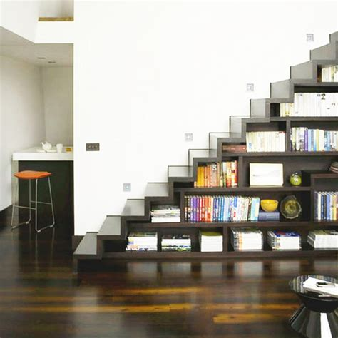Staircase Shelf 40 Under Stairs Storage Space And Shelf Ideas To Maximize