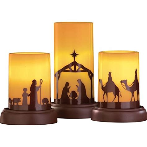 That Warm Weather Set Candles Out Later by Led Flameless Nativity Candles Set Of 3 Candlesme